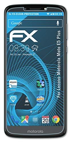 atFolix Schutzfolie kompatibel mit Lenovo Motorola Moto E5 Plus Folie, ultraklare FX Bildschirmschutzfolie (3X)