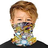 3D Seamless Dragon Ball Z Face Mask Rave Bandana for Kids Neck Gaiter Scarf Dust Wind Balaclava Headwear