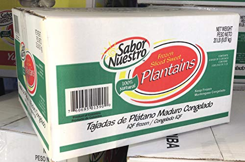 Frozen Sliced Sweet Plantains