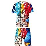 MSLZQMX Dragon Ball Pantalones Cortos Traje Beach Conjunto De Dos Piezas Ropa...