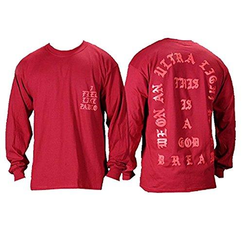 The Life of Pablo I Feel Like Pablo Red Long Sleeve T Shirt (Large)