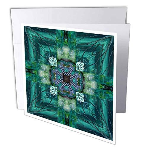 3dRose Irish Earth Cross - Greeting Cards, 6 x 6 inches, set of 12 (gc_6726_2)