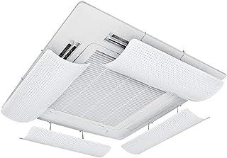 Deflector De Aire Acondicionado para Aire Acondicionado Central, InstalacióN Simple, ABS Liviano Y Flexible, GuíA De Viento Microporosa, Evita Que El Aire Fluya Directamente (una Pieza)