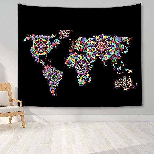KHKJ Tapiz de Mapa del Mundo Mapa de Alta definición Tela para Colgar en la Pared Decoración Mapa Carta Colgar en la Pared A5 200x180cm