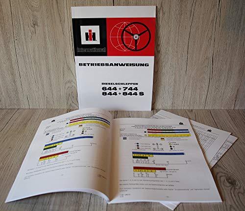 IHC Betriebsanleitung Bedienungsanleitung Traktor 644 744 844 844S