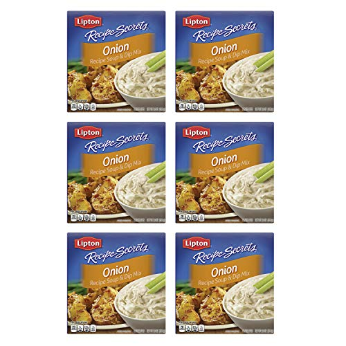 Lipton Recipe Secrets Soup and Dip Mix For a Delicious Meal Onion Great With Your Favorite Recipes, Dip or Soup Mix 2 oz, Pack of 6