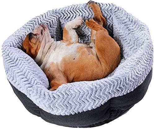 zyh (Gris) cómoda Cama Relajante para Mascotas de 60 cm,Cama para Perros y Gatos,cojín de Felpa Lavable para Camas para Mascotas,cojín cálido para Perros,Gatos,Gatitos,Perros
