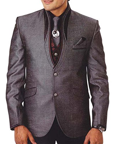 INMONARCH Costume Smoking gris Hommes Pc 7 Commitment TX928R36 46 or S (hauteur 171 cm a 180 cm) Gris foncÉ