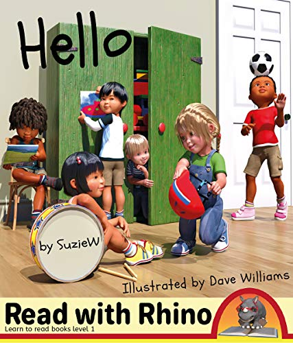 Hello: Read with Rhino learn to read books Level 1 (English Edition)