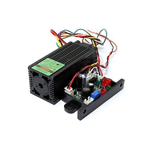 Q-BAIHE Láser Verde del diodo 12v 532nm módulo del Punto del Laser 200mw w/TTL 0-30KHZ y refrigeración del Ventilador - Funcionamiento Largo del Tiempo