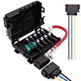 Battery Fuse Box Terminal 1J0937550 compatible with 99-04 VW beetle Jetta Bora Golf MK4 with Wiring Harness Pigtail Connector