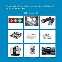 LEDダイオード有線、LEDライトビーズ配線済み発光ダイオード、電子部品マルチカラーフラッシュモードDIY家庭用照明用自動車照明