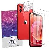 Pellicola Vetro Temperato Massima Protezione Display 0,4mm Apple iPhone 12 (6,1 Pollici) Vetrino Fotocamera Posteriore Antiriflesso Antimpronte Resistente Graffio Protettivo Camera Arikaree
