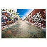 Bilderwelten Fotomural - Skate Graffiti - Mural apaisado papel pintado fotomurales murales pared papel para pared foto 3D mural pared barato decorativo, Dimensión Alto x Ancho: 255cm x 384cm