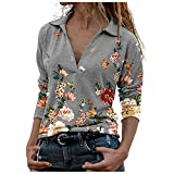 Blusa para Mujer Moda para Mujer Estampado de Flores con Cue
