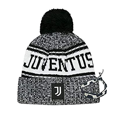 icon sports Compatible with Juventus Beanie 2020 Winter hat and Bracelet Team Color Soccer Mens Gift Set 2 pcs (1)