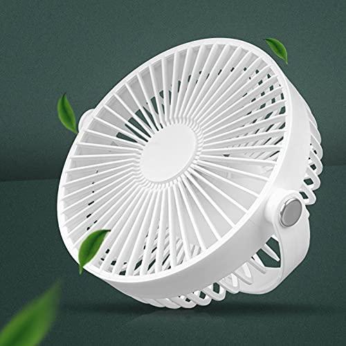 Ventilatore da Campeggio USB, Ventilatore da Tavolo con Luce a Led, Ricaricabile con Gancio e Vite da 1/4 di Pollice,Ventilatore Silenzioso Portatile per Treppiede, Ufficio, Esterno, Tenda, Auto