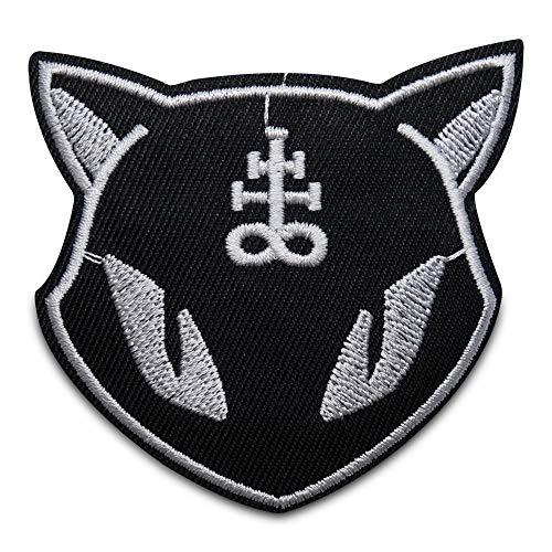 Finally Home Schwarzer Katzen Kopf Patches zum Aufbügeln | Katze Patch, Bügelflicken, Flicken, Aufnäher