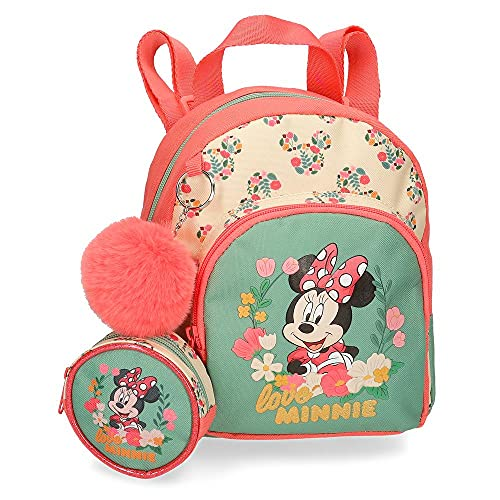 Disney Minnie Golden Days Mochila Guardería Multicolor 19x23x8 cms Poliéster 5L