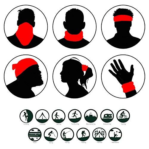 Tioamy Kopfbedeckung Bandana Funktionstücher mehrzweck Halbe Gesichtsmaske Motorrad Gesichtsmasken Nahtlose Balaclava Banana Atmungs Nackenwärmer - 4