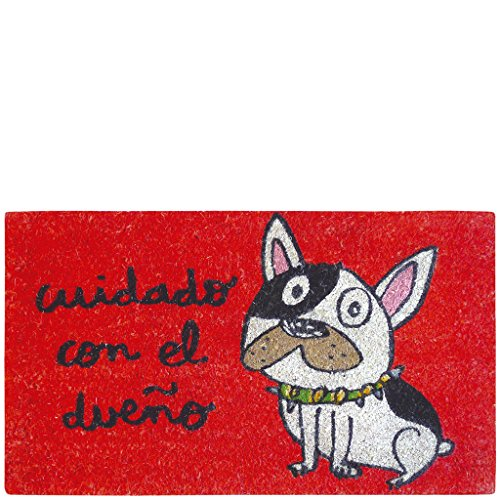 Laroom Felpudo, Yute, Rojo, 40x70cm