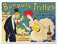 ZRRTERL Banyuls-Trilles Aperitif Au Quinquina Vintage Food&Drinkポスターキャンバスポスターギフトアイデア写真ダイニングルームバーのウォールアート-50X70Cmフレームなし