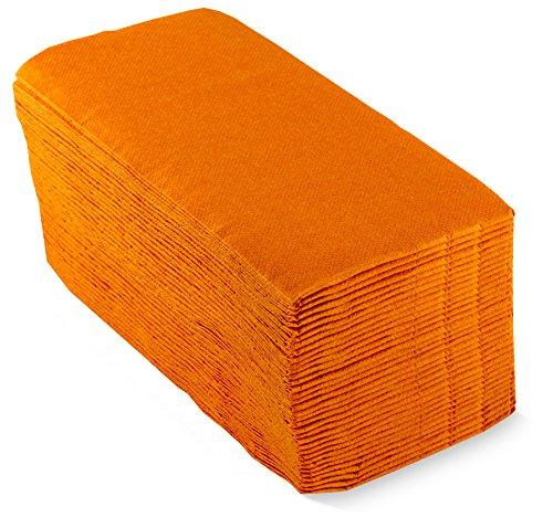 Saten Dinner, Servilleta 30x40, 2 capas, pliegue 1/6, 100 servilletas, punta-punta, Naranja
