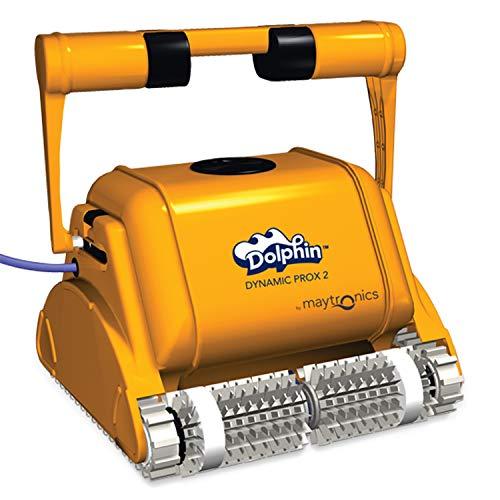 MAYTRONICS Dolphin Pro X2 GYRO Automatischer Schwimmbecken-Reinigungsroboter Handlicher, robuster & einfach zu reinigender Sauger. Ideal für kommerziell betriebene Schwimmbäder