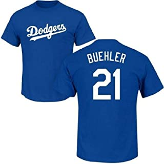 Outerstuff Walker Buehler Los Angeles Dodgers #21 Youth Name and Number Tee T-Shirt - Youth Small Blue