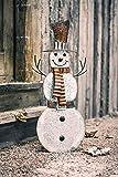 Deko Figur Schneemann aus Metall, 75 cm hoch, Winterdeko, Gartendeko, Aussendeko