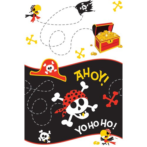 """Pirate Party Plastic Tablecloth, 84"""" x 54"""""""