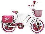 Bicicletta Bike Bici Bambina Princess 20' Bianca Reset
