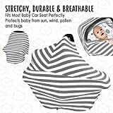 ELECTROPRIME Carseat Canopy Cover - Baby Car Seat Canopy All-in-1 Nursing Breastfeeding M6W4