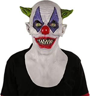 Lumumi Cosplay Michael Myers Melting Face Overhead Latex Costume Prop Scary White Mask Toy