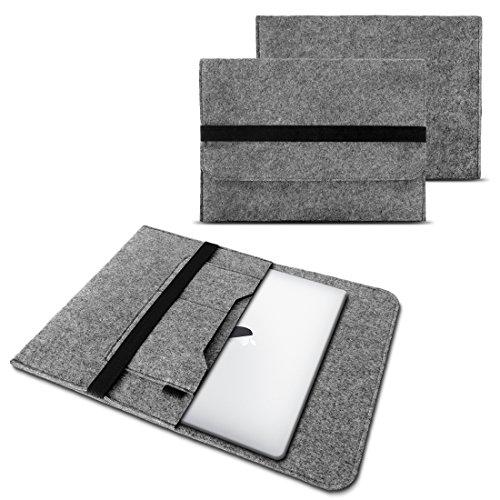 NAUC Laptop Tasche Sleeve Hülle Schutztasche Filz Cover für Tablets & Notebooks Farbauswahl kompatibel für Samsung Apple Asus Medion Lenovo, Farben:Grau, Größe:9.7-10 Zoll