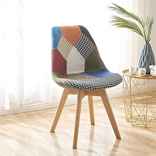 LQJYXD Schoenkruk Eetstoel Nordic Home Solid Wood Negotiation Bureau Stoel Moderne Minimalistische Stof Terug Mesh Rode Stoel (kleur : Roze)
