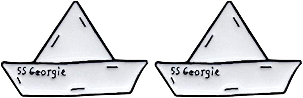 Cheap mail order sales Charmart SS All items free shipping Georgie Paper Boat Lapel En Set Pins 2 Origami Piece