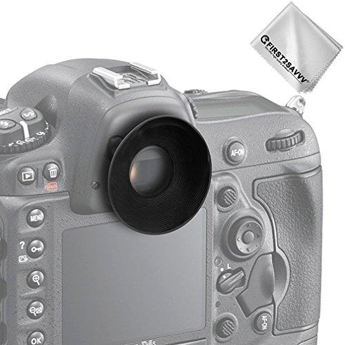 First2savvv DSLR Conchiglia Oculare Mirino Ottico per Nikon D610 D600 D300S D7200 D7100 D7000 D90 D300 D200 D80 D70 D70S D60 DSLR Camera DK-21 DK-23 + pezza per pulire - QJQ-OX-N-01G11