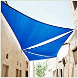 ColourTree 28' x 28' x 28' Blue Triangle CTAPT28 Sun Shade Sail Canopy Mesh Fabric UV Block - Commercial Heavy Duty - 190 GSM - 3 Years Warranty (We Make Custom Size)