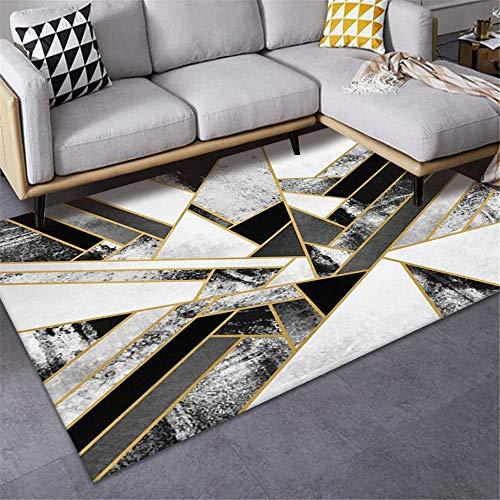 Jiaosa Rugs Bedroom Room grey Carpet salon gray messy geometric pattern anti-slip carpet durable Fur Rugs For Bedroom 60X90CM Carpet Corner 1ft 11.6''X2ft 11.4''