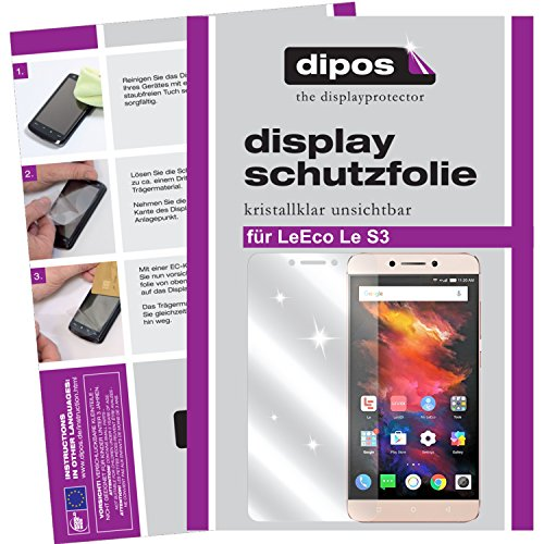 dipos I 2X Schutzfolie klar kompatibel mit LeEco Le S3 Folie Bildschirmschutzfolie