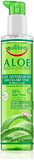 Equilibra Viso, Aloe Gel Detergente Micellare Viso, Gel Detergente Viso a Base di Aloe Vera per Pelli Sensibili, Struccant...
