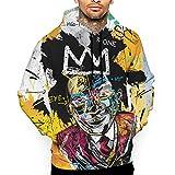 WXWX Jean Michel Basquiat Sudadera con Capucha Estampada en 3D para Hombre Suéter con Capucha de Manga Larga de Moda Sudaderas con Capucha