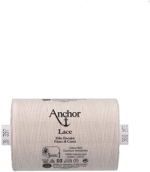 Amarillo vainilla 301 Longitud: 500m 301 Espesor: 40 3cm x 3cm x 7cm Anchor Hilo De Encaje De Bolillos Encaje