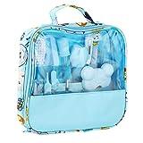 13 Piezas Cuidado de Las UñAs del Bebé - Kit de Aseo y Kit de Limpieza para BebéS para Bebé Limpieza Diaria Personal, Set de Manicura ReciéN Nacido con Estuche Lindo (Azul)