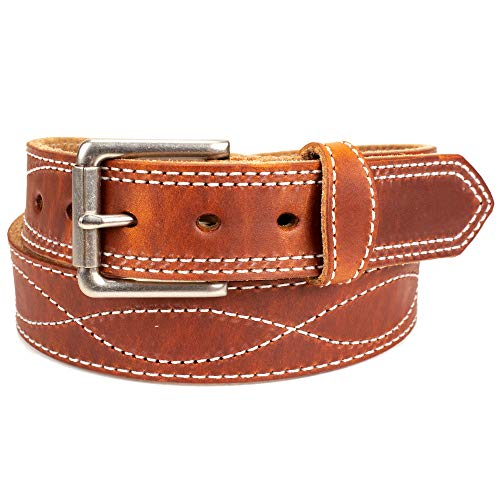 Amish Made Western Leather Tool Belt (40, Waxed Brown)