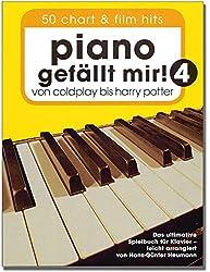 Piano gefällt mir. Volume 4-50Chart et film Hits-de Coldplay à Harry Potter-Le livre ultime Jeu pour homme de Piano de Hans Günter foin (avec coloré Cœur Note Pince)