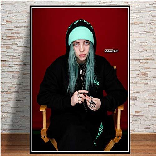 oioiu Modeschönheit Sängerin Poster für Wohnzimmer Schlafzimmer Korridor Ölgemälde Mode Kunst Wandmalerei Rahmenlos