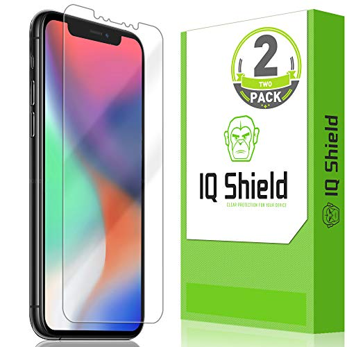 IQ Shield Screen Protector Compatible with Apple iPhone 11 Pro (5.8 inch)(Max Coverage)(2-Pack) LiquidSkin Anti-Bubble Clear Film