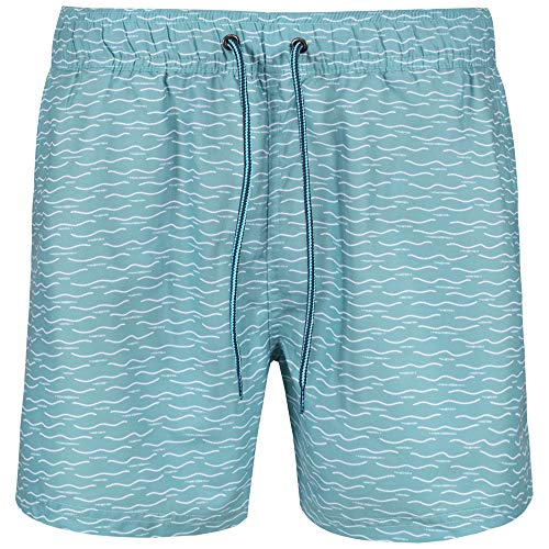 Ben Sherman Mens Swim Short NAVAGIO Turquoise, Größe:L